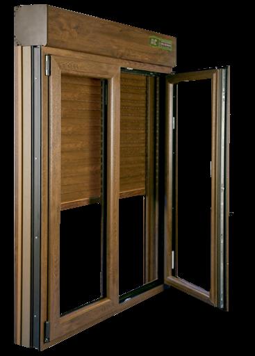 ventana pvc imitación madera climalit